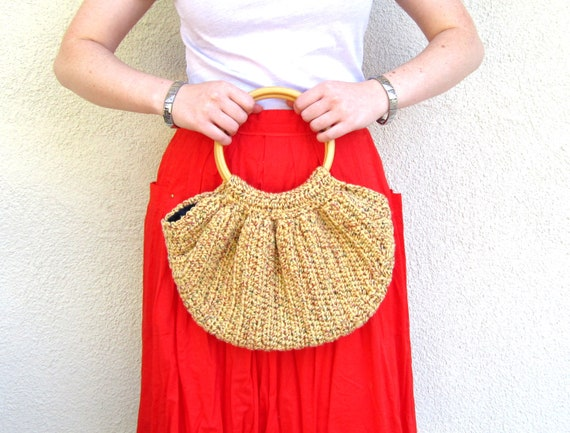 Crochet Boho Slouchy Slouch Bag Hippie Purse Womens Handmade Accessory ...