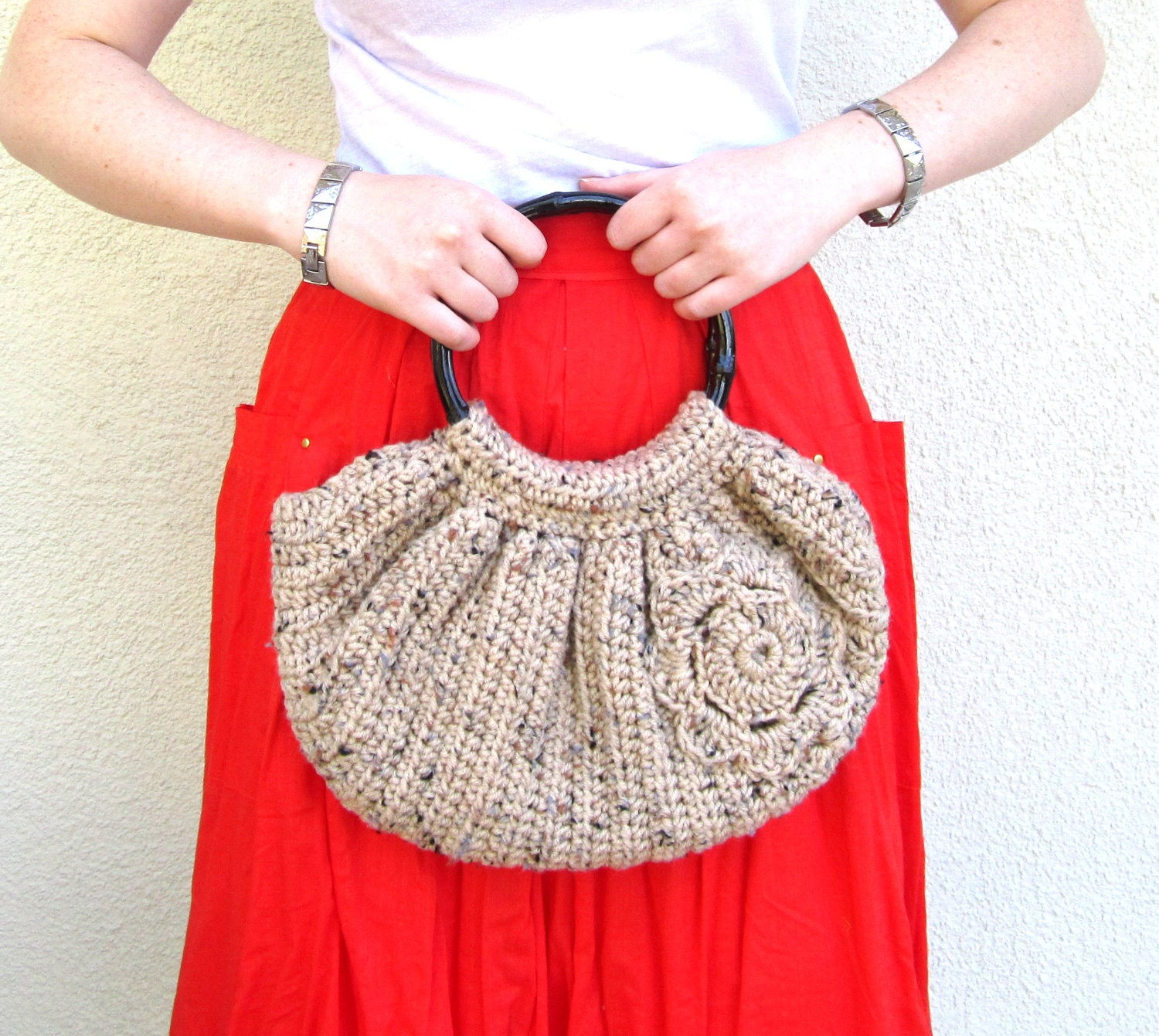 Crochet Boho Bag : Crochet Boho Slouchy Slouch Bag Hippie Purse Womens by joyfulgabby