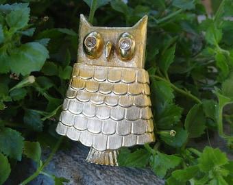 Vintage Avon Owl Pin 1970s