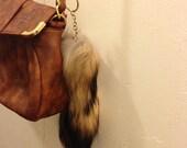Gold chain Fox tail Key chain/ Purse Charm