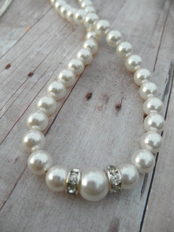Katie Pearl Necklace Bridesmaid Jewelry Wedding Day
