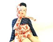 Vintage Cloth Doll Girls Toys Rag Doll Soft Stuffed Doll Poland