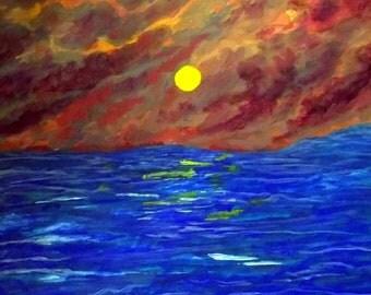 Original Painting of impressionist Seascape by Kim Rowlett