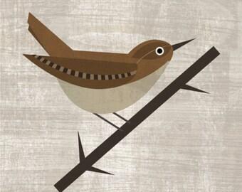 printable bird poster -  Digital Image Download - ratona común -