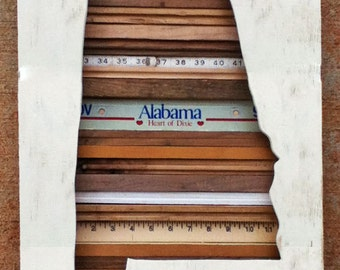 Reclaimed Wood Art - Alabama