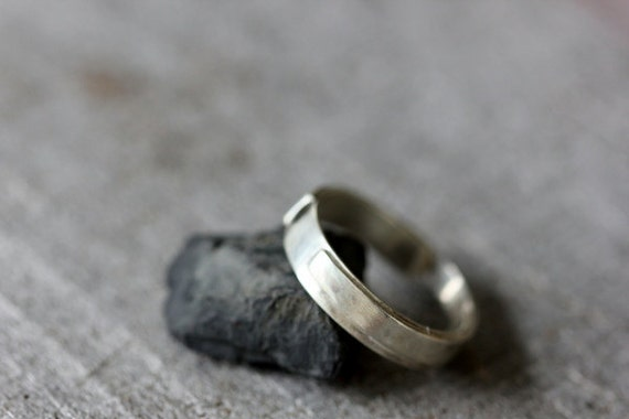 Sterling Ring, Wrapped & Fused, Unisex, Recycled Silver, Size 8