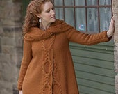 Hand knitted Coat for Women. 100% Wool (bulky) . Made to order. Custom made