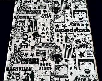 Vintage Wallpaper-rare 1960s Woodstock era, screenprinted, collectible