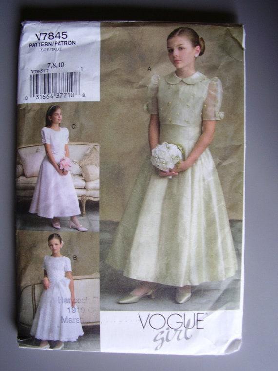 Vogue Girl V7845 Formal Dress with Jacket UNCUT