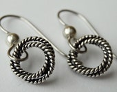 "Eternity - Solid Sterling circle and Stainless Steel earrings - ""Everyday of forever"" - by Twilight Eyes Studio"
