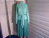 Vintage 1970s Dress - Mad Men - Matlock - Secretary Dress - Church - Shopping - Party - Size 14