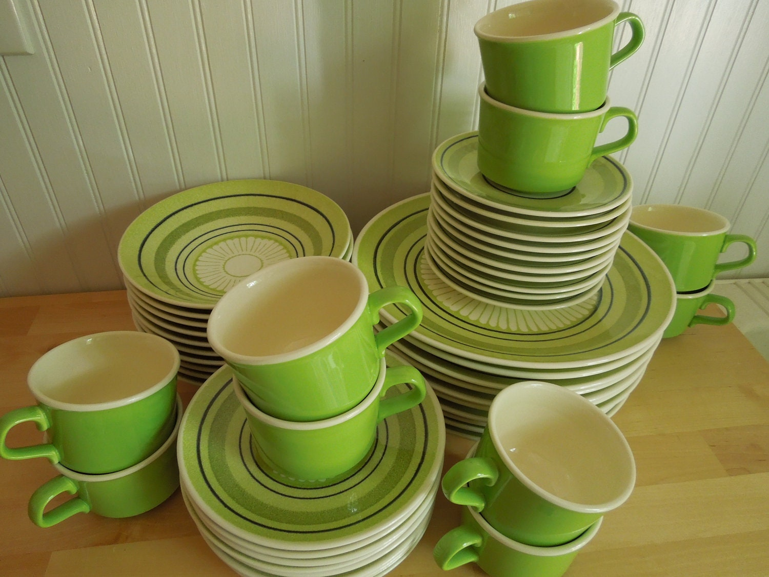 Dinnerware Lime Green Flower Dishes Taylor By