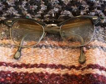 Vintage Eyeglasses  Imperial Cat Eye 145 made in usa