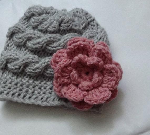 Baby hat baby girl hat newborn hat photo prop baby knit hat girl