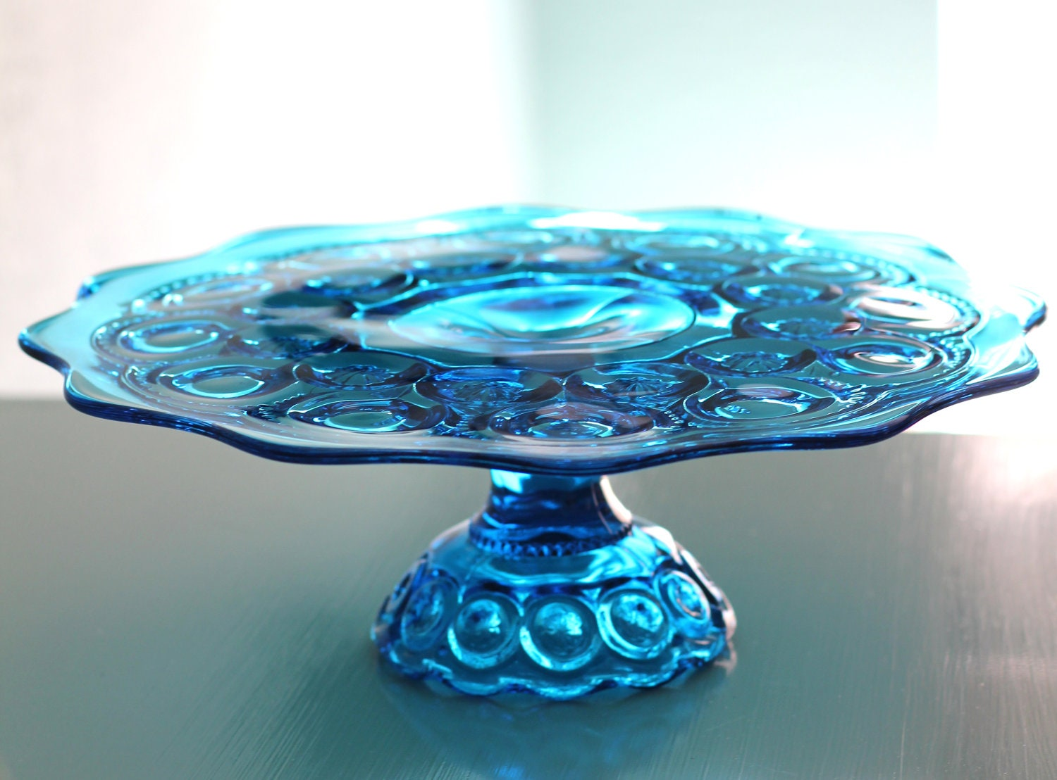 Vintage Cake Stand In Cobalt Blue Vintage Cake By TheRocheStudio