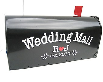 Custom Wedding Card Mailbox Vinyl LETTERING - Personalize Your Own Wedding Card Box