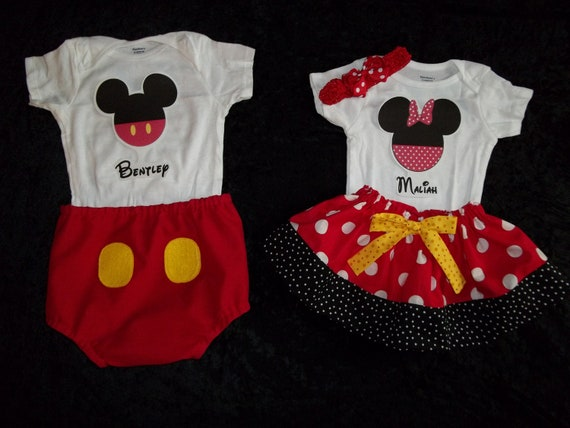 Items Similar To Disney Outfit Shirt Minnie Mickey Mouse