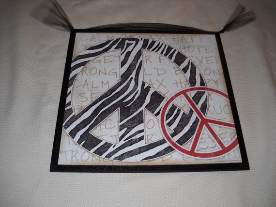 Peace Sign Bedroom Accessories: Items Similar To Black White Zebra Stripe And Red Peace