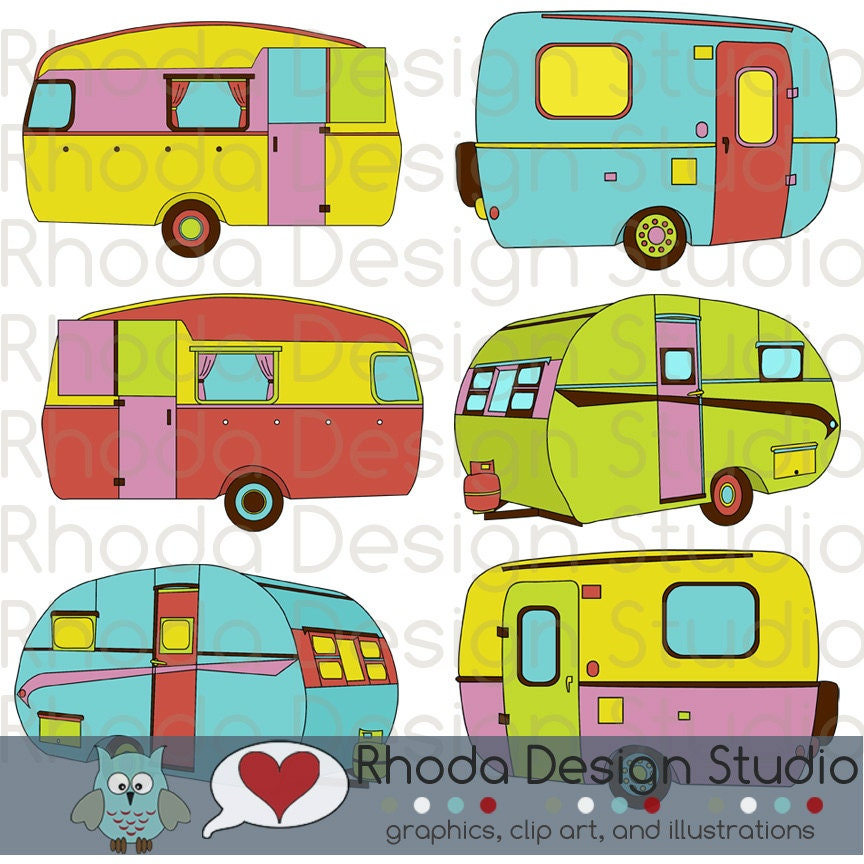 Like this item Vintage Camper Clipart