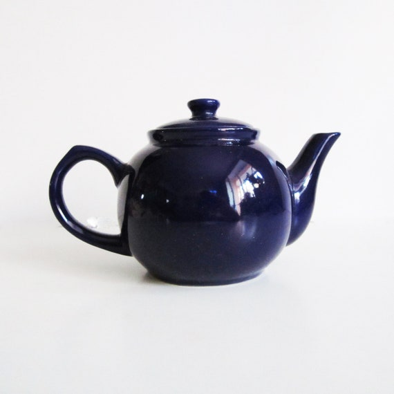 Beautiful Blue TEA pot for cold winter night, use for home decor, kitchen decor, camping.