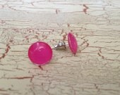 Hot pink earrings