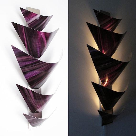 Wall Light Sculpture: Metal Wall Sculpture Metal Wall Art Accent Lamp LED Light