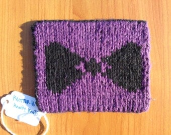 reversible bow tie coaster