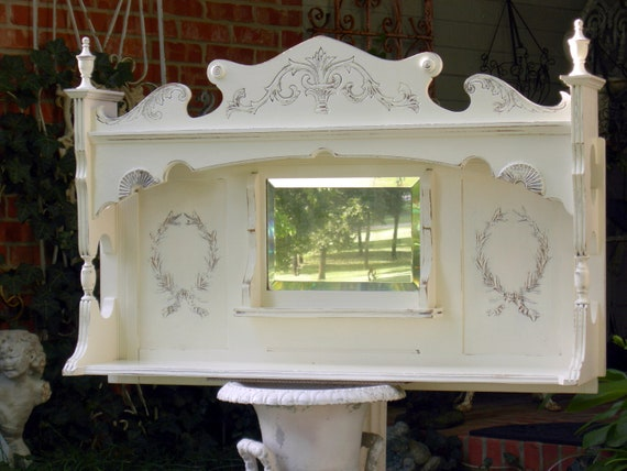 On Sale Antique Mantle Mirror Shelf In Shabby By