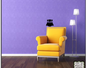 """Cute Owl Decals (set of 2) 11.5""""w x 11.5""""h Removable Vinyl Decal for Walls and more"""