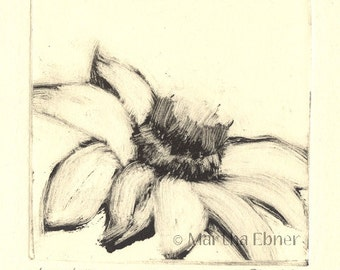 Flower Monotype Print