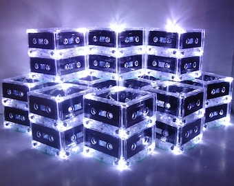 New Year's Parties Decor 2014 Lighted Centerpiece 80s theme Mixtape cassette tape lights