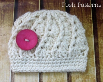 Crochet PATTERN - Spiral Shell Hat - Crochet Hat Pattern - Includes Baby, Toddler, Child, Kids, Adult Sizes - Photo Prop Pattern - PDF 247