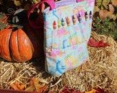Toddler Crayon Bag- Mermaids and Dancing Dolphins