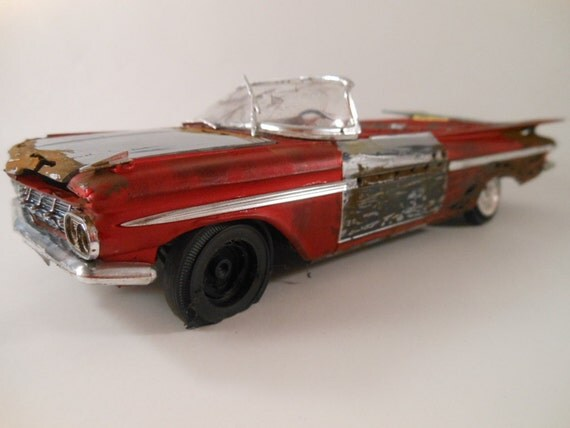 1959 Chevrolet Impala 1/24 scale model car in red