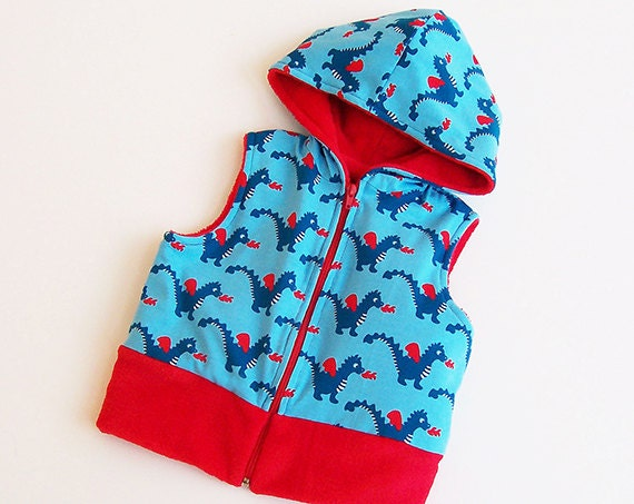 Boy Girl DRAGON Vest Children pattern Pdf sewing by PUPERITA