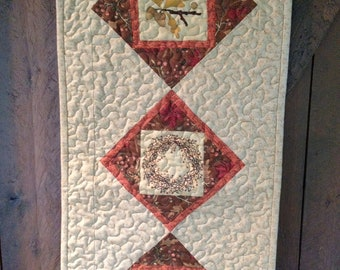 Machine Quilted Fall & Thanksgiving Door or Wall Hanging