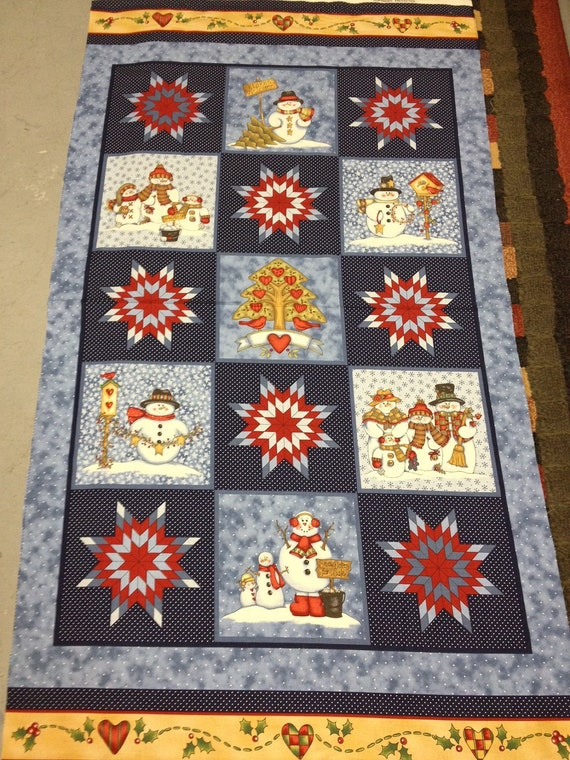 Snowbuddies fabric by Dianna Marcum for Marcus