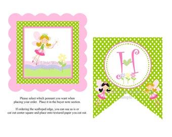 Garden Fairy Birthday Banner, Fairy Garden Banner, Garden Fairy happy birthday banner, fairy garden printable banner, fairy banner