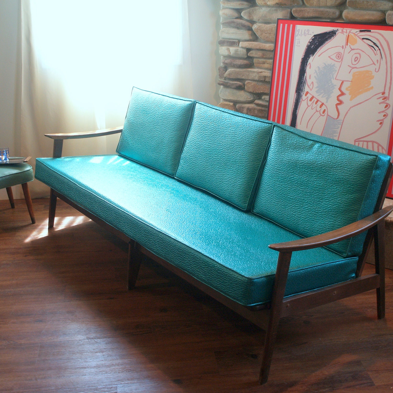 VINTAGE DANISH MODERN Sofa Lovely 1950's Mid By