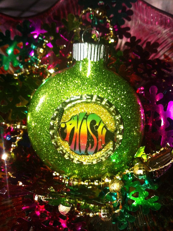 PHISH Glass Glitter Resin CHRISTMAS Ornament ooak Holiday Decoration gift