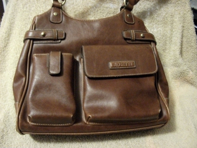 Vintage Ladies Brown Rosetti Handbag Purse Shabby Chic Only 6