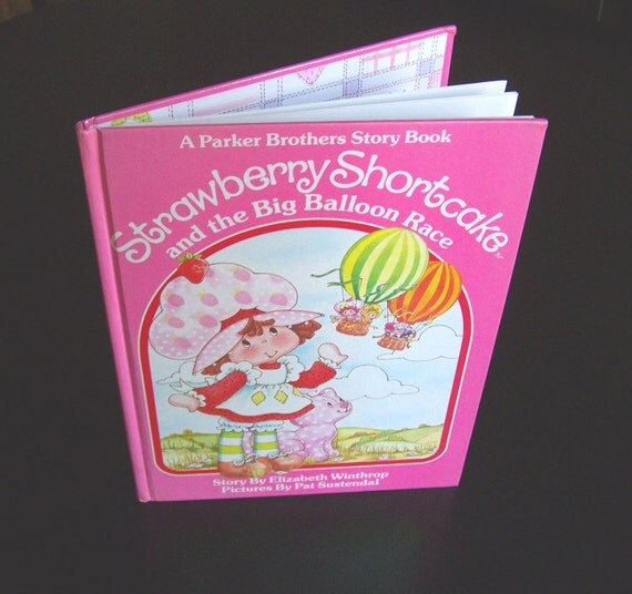 Vintage Eighties Children's Book - Strawberry Shortcake and the Big Balloon Race - 1983