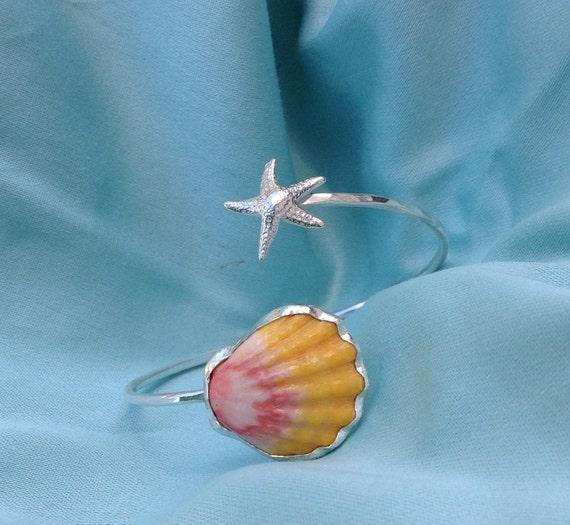 Sunrise Shell Starfish Cuff