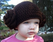 Custom Crocheted Princess Leia Inspired Crochet Hat - ALL sizes available