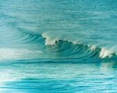 photography print -  fine art ocean photography 5x5 -  beach photography waves nautical decor print ocean waves breaking clickety