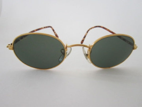 Ray Ban Golden Frame Glasses : Ray Ban vintage sunglasses gold frame small by ...