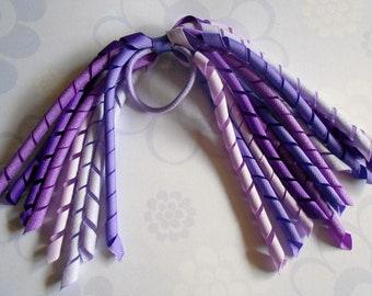 Purple Glitter korker pony streamer