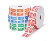 100 Assorted Carnival Tickets - Fun for Scrapbooking, Parties, and More