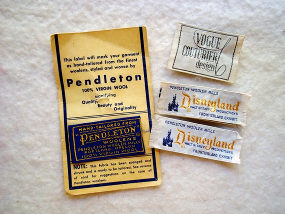 lot of 4 vintage clothing labels