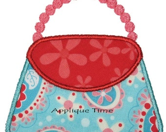 Instant Download Purse Machine Embroidery Applique Design 4x4, 5x7 and 6x10